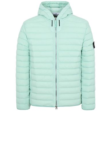 STONE ISLAND 44525 LOOM WOVEN DOWN CHAMBERS STRETCH NYLON-TC Jacket Man Aqua EUR 475