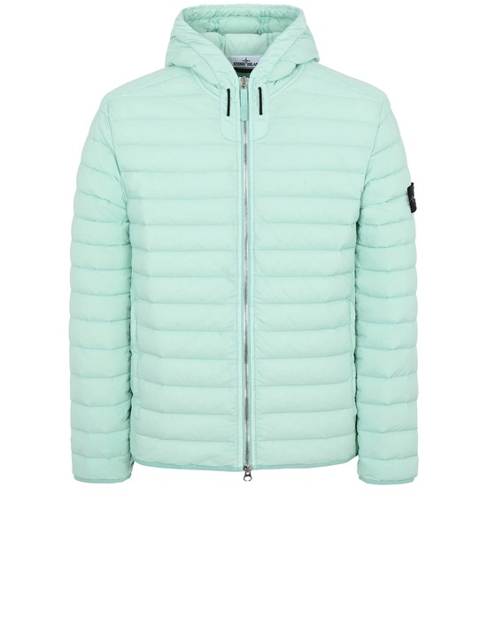 STONE ISLAND 44525 LOOM WOVEN DOWN CHAMBERS STRETCH NYLON-TC Jacket Man Aqua