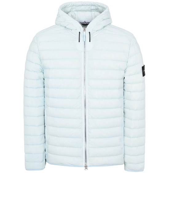 STONE ISLAND 44525 LOOM WOVEN DOWN CHAMBERS STRETCH NYLON-TC 캐주얼 재킷 남성 스카이 블루