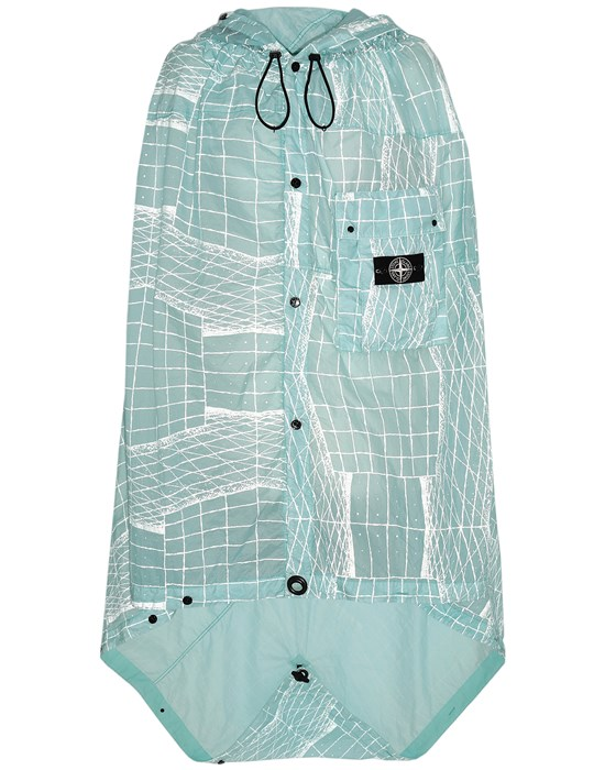 STONE ISLAND 96099 REFLECTIVE GRID ON LAMY-TC  Cloak Man Aqua