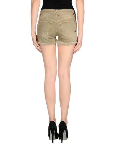 Фото 2 - Джинсовые шорты цвет зеленый-милитари