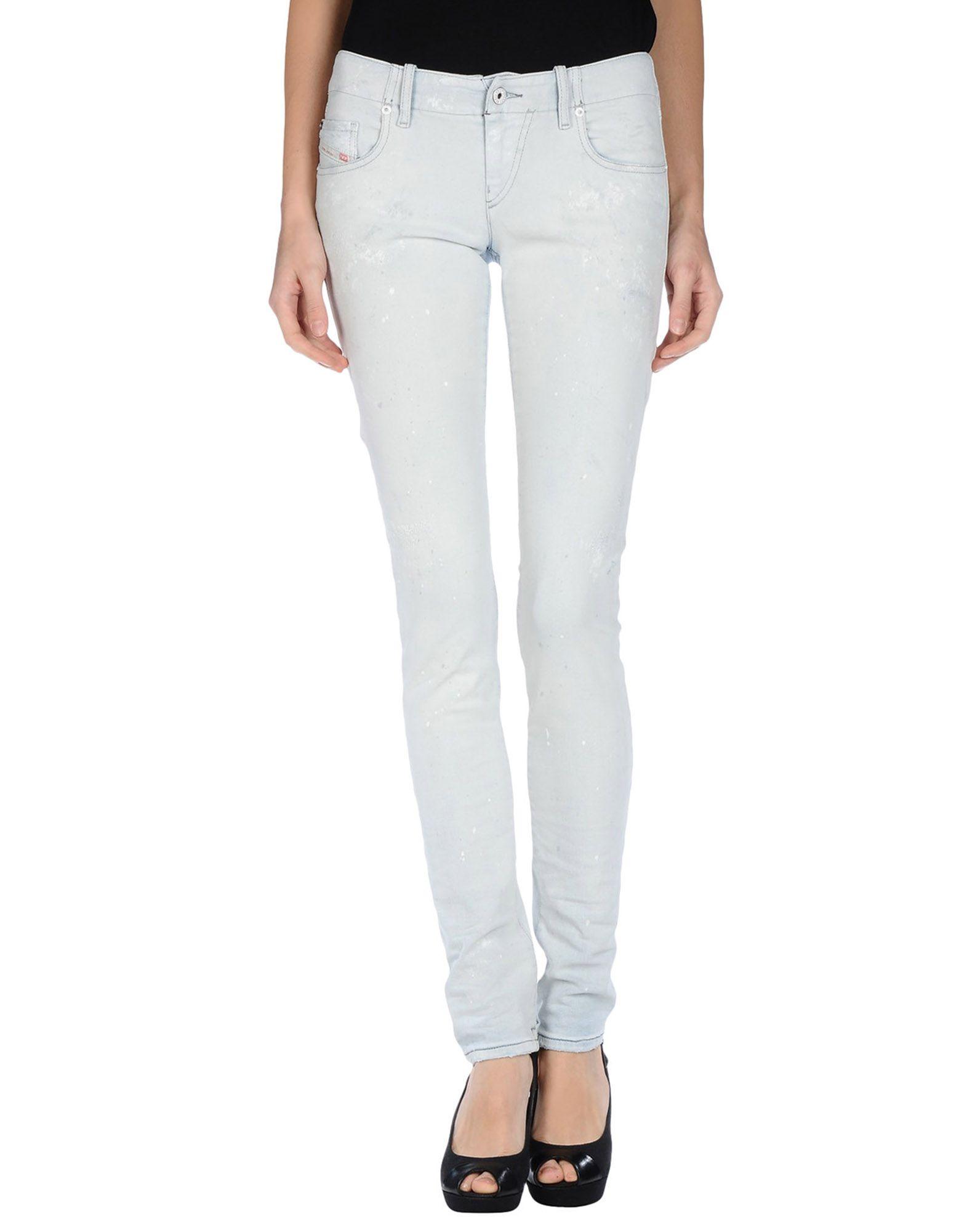 DIESEL Джинсовые брюки женские брюки лэйт светлый размер 50
