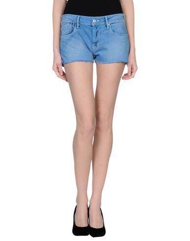 Фото - Джинсовые шорты лазурного цвета