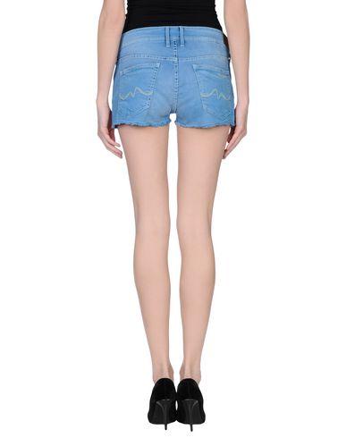 Фото 2 - Джинсовые шорты лазурного цвета