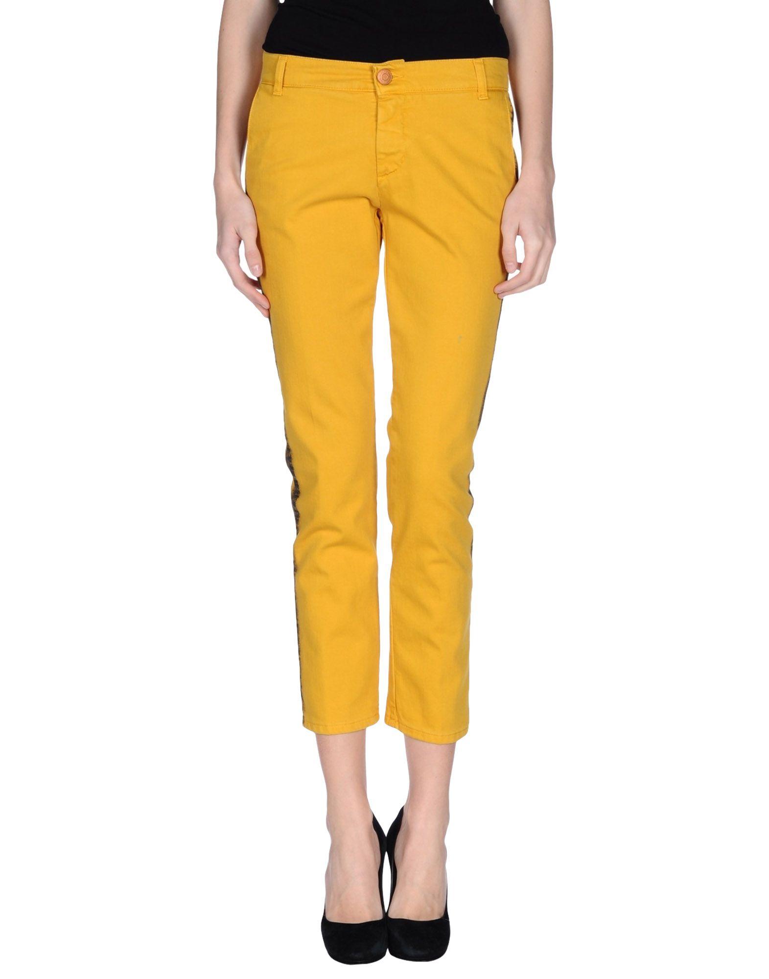 ROSAM CAPE Damen Jeanshose7 gelb