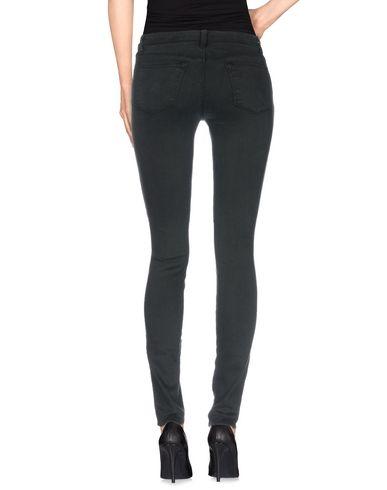 Фото 2 - Джинсовые брюки темно-зеленого цвета