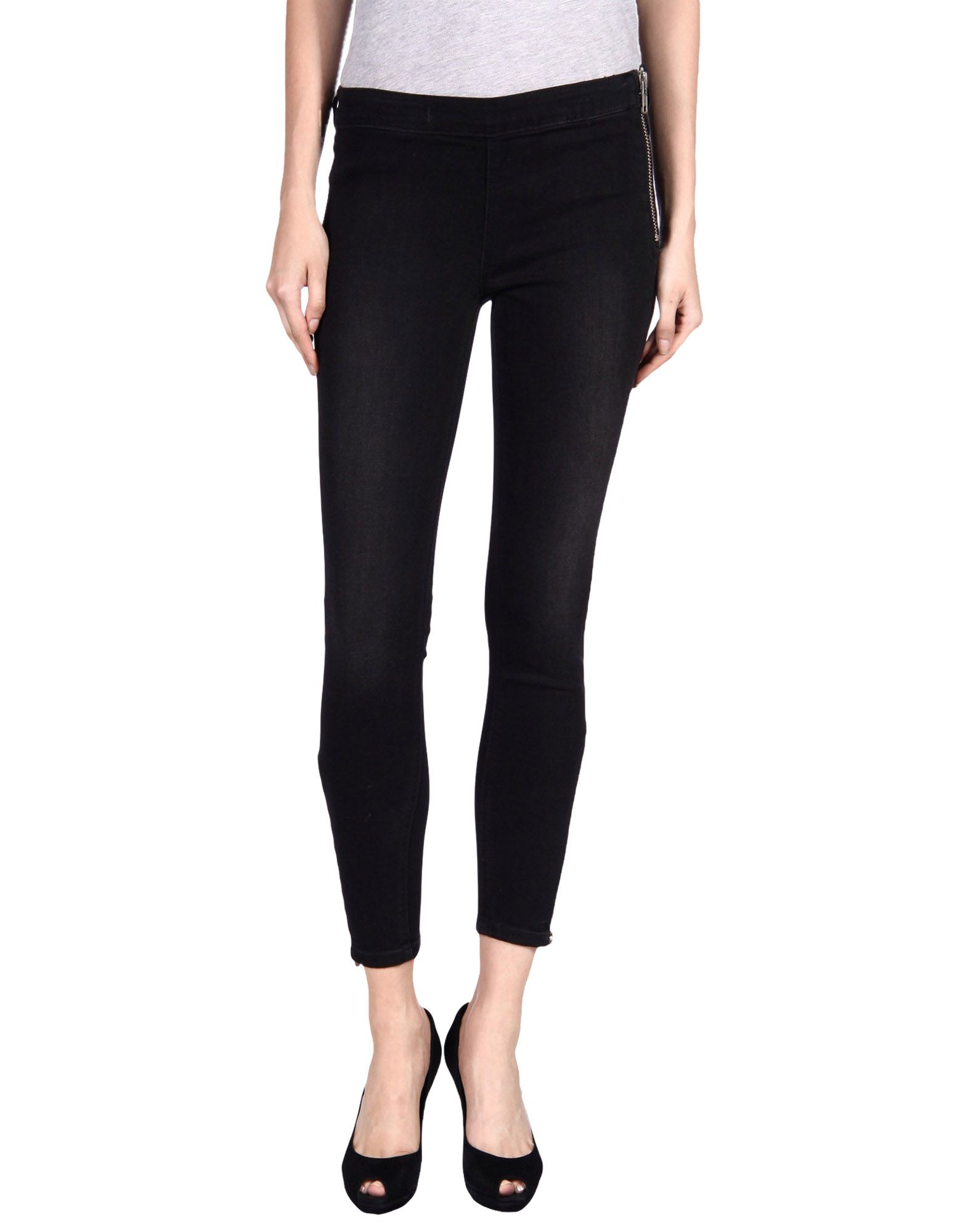 TEXTILE ELIZABETH AND JAMES Denim Pants in Black