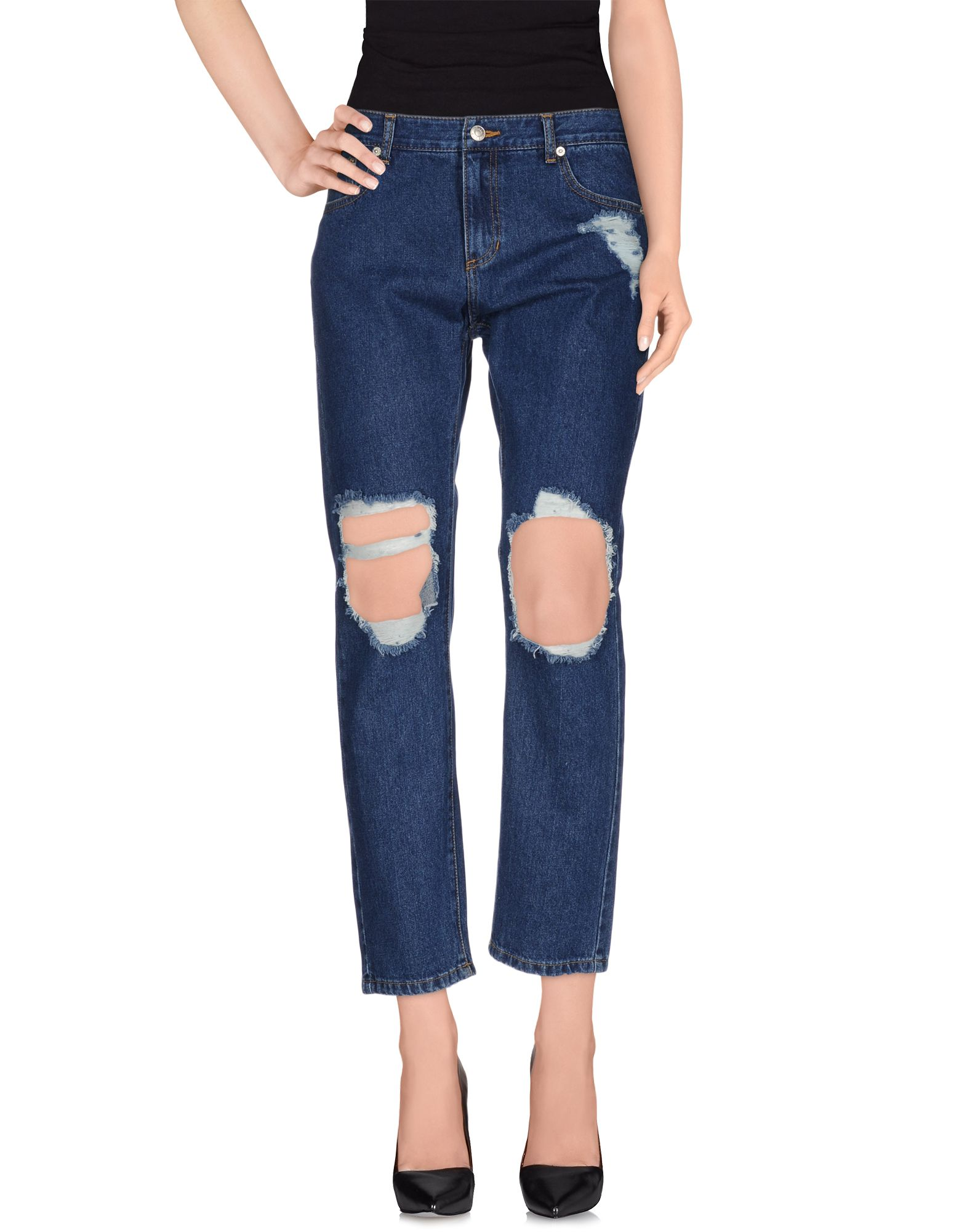 купить SJYP Джинсовые брюки по цене 5000 рублей