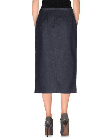 Фото 2 - Джинсовая юбка синего цвета