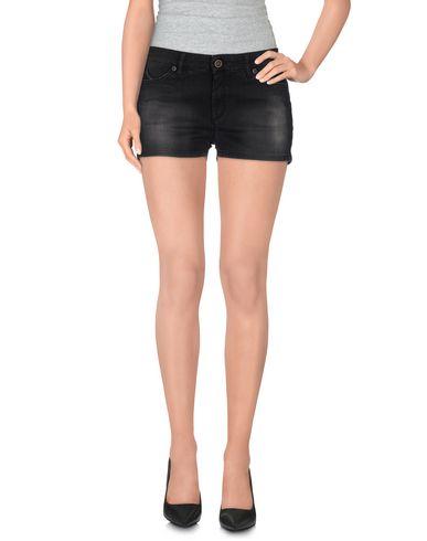 Фото - Джинсовые шорты черного цвета