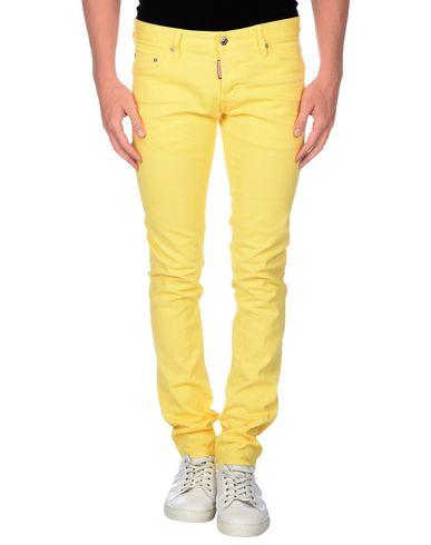 Фото - Джинсовые брюки желтого цвета