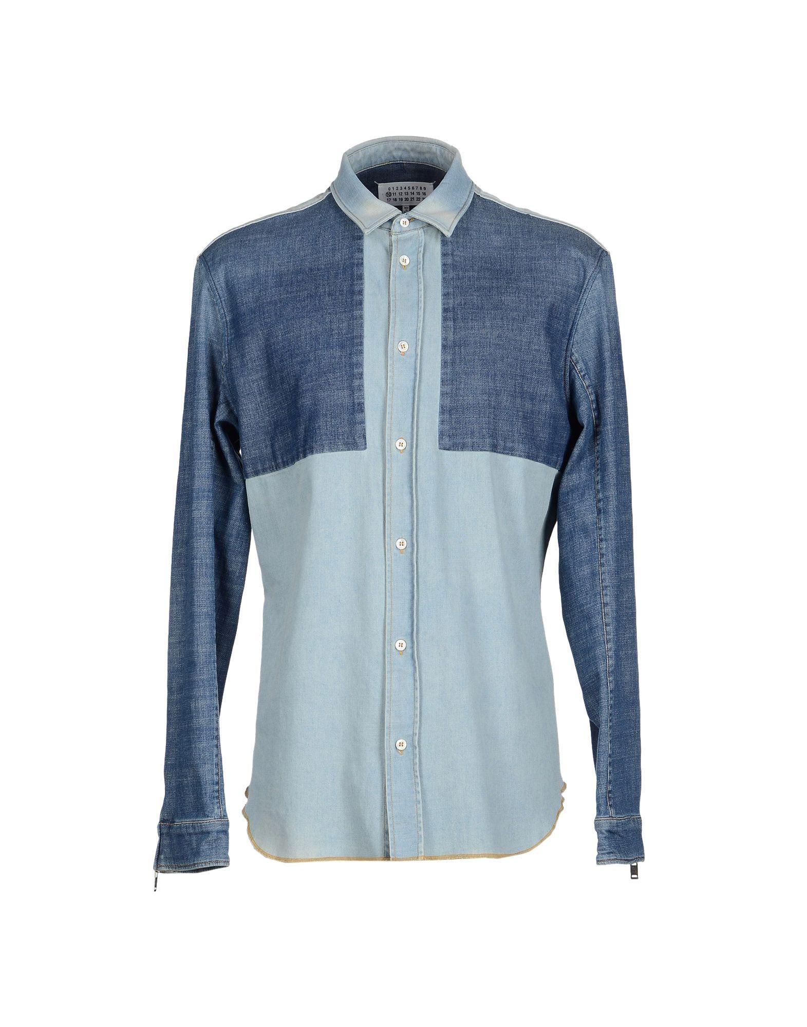 MAISON MARGIELA Джинсовая рубашка цена 2017
