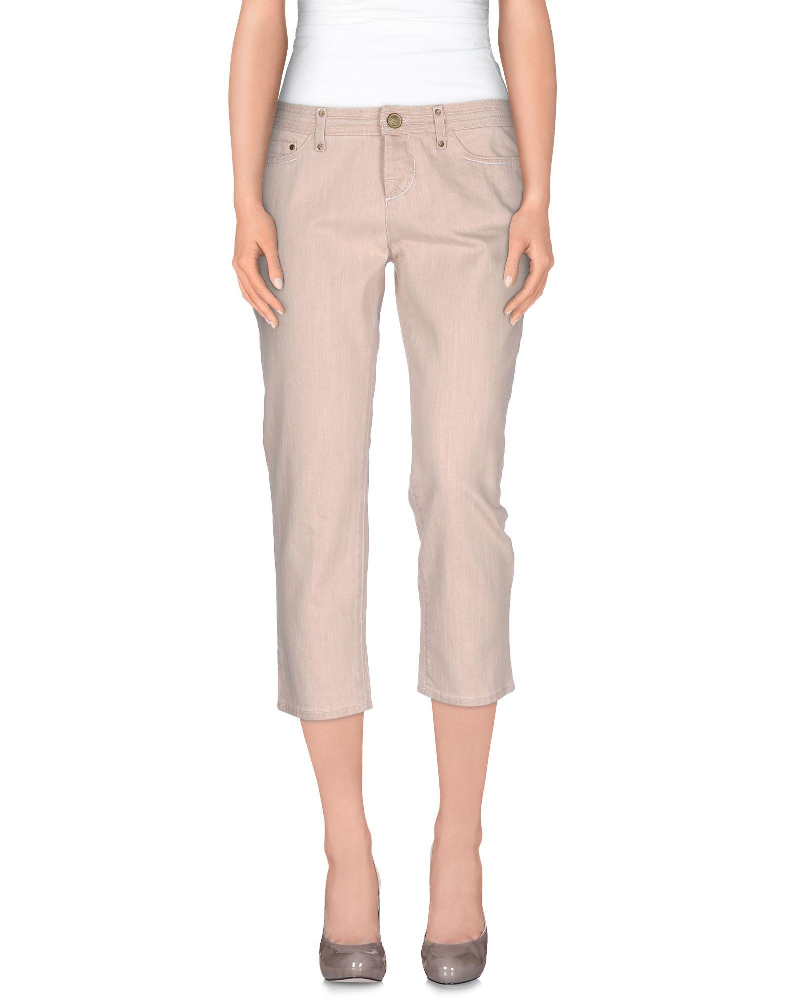 GF FERRE' Джинсовые брюки-капри брюки gf ferre брюки широкие