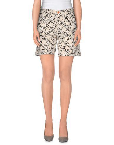 Pantaloni bermuda Avorio donna MONOCROM Bermuda jeans donna