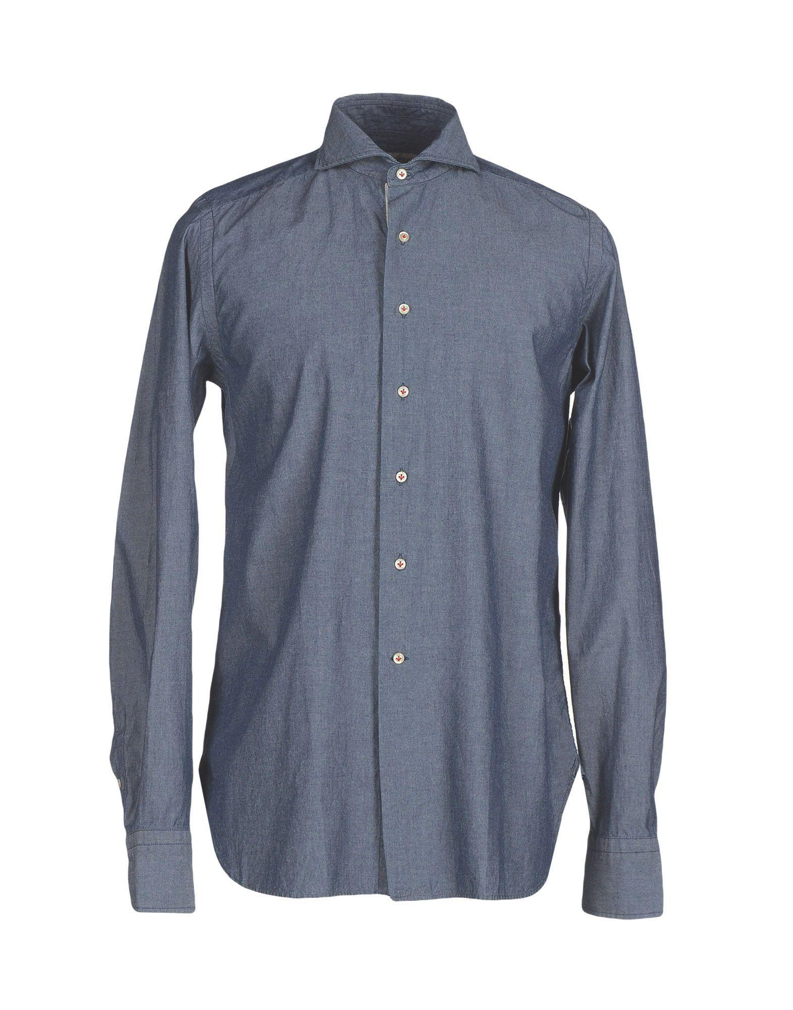 где купить STORIA DISEGNATA DA ALDO GUGLIELMINOTTI Джинсовая рубашка по лучшей цене