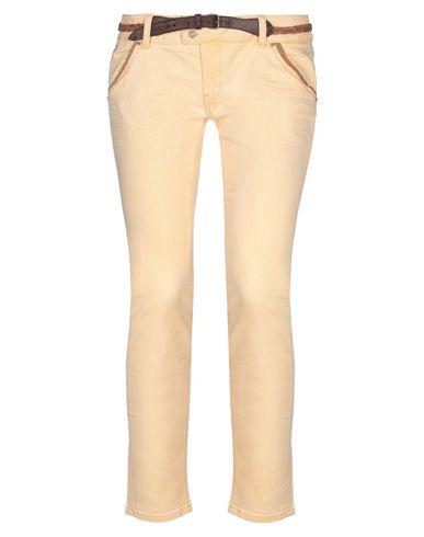 Фото - Джинсовые брюки цвет абрикосовый