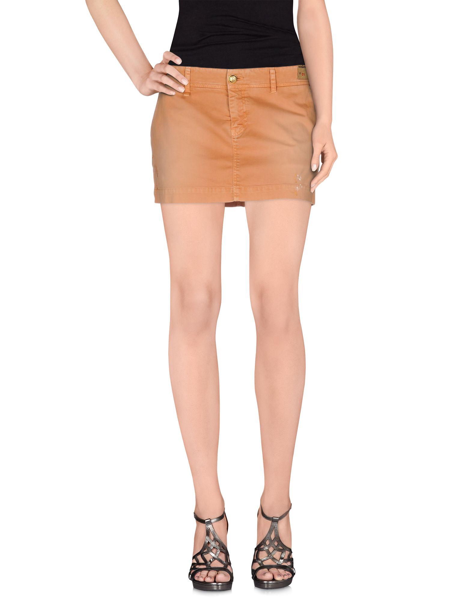 MONOCROM Джинсовая юбка monocrom юбка до колена