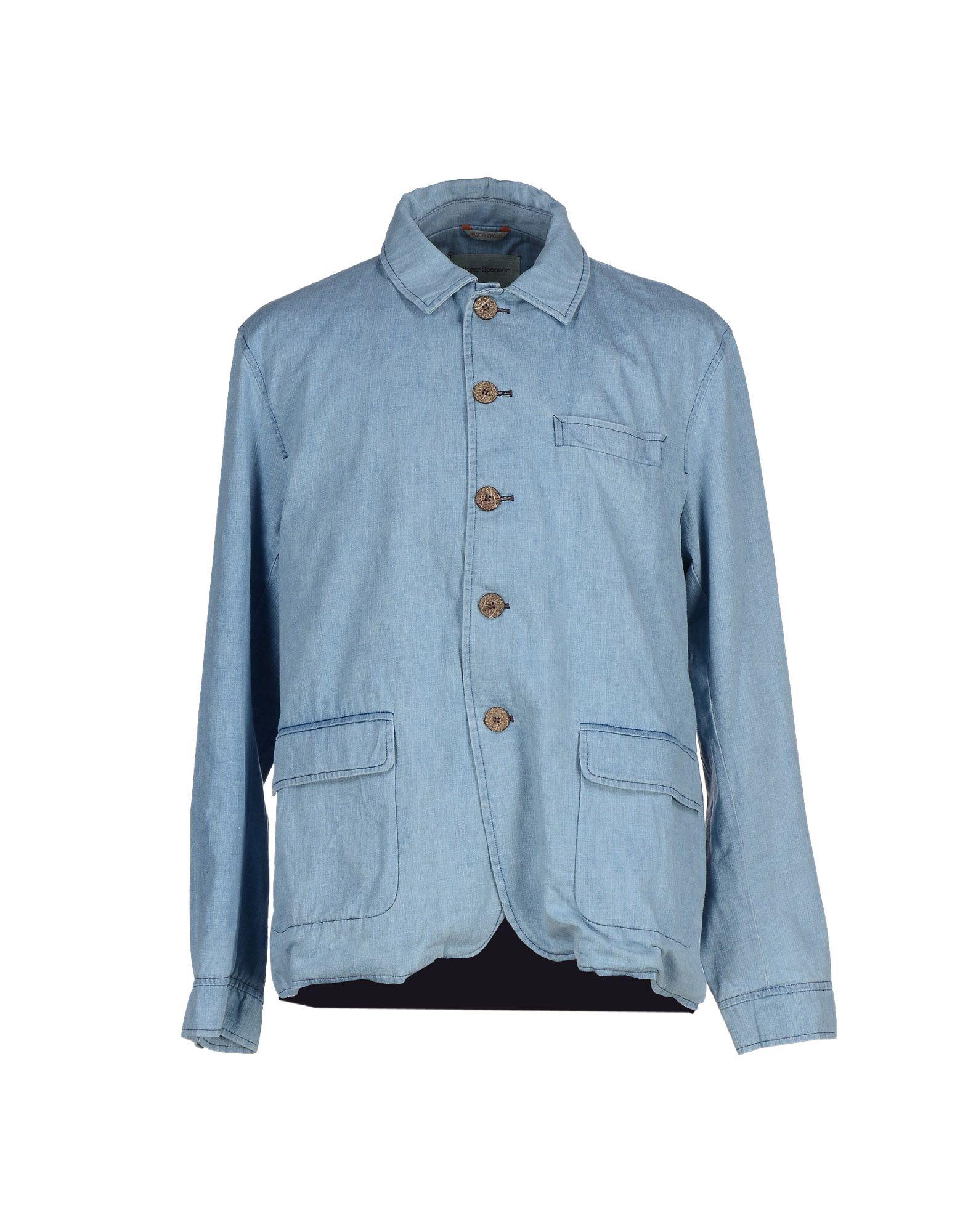 oliver spencer легкое пальто OLIVER SPENCER Джинсовая верхняя одежда