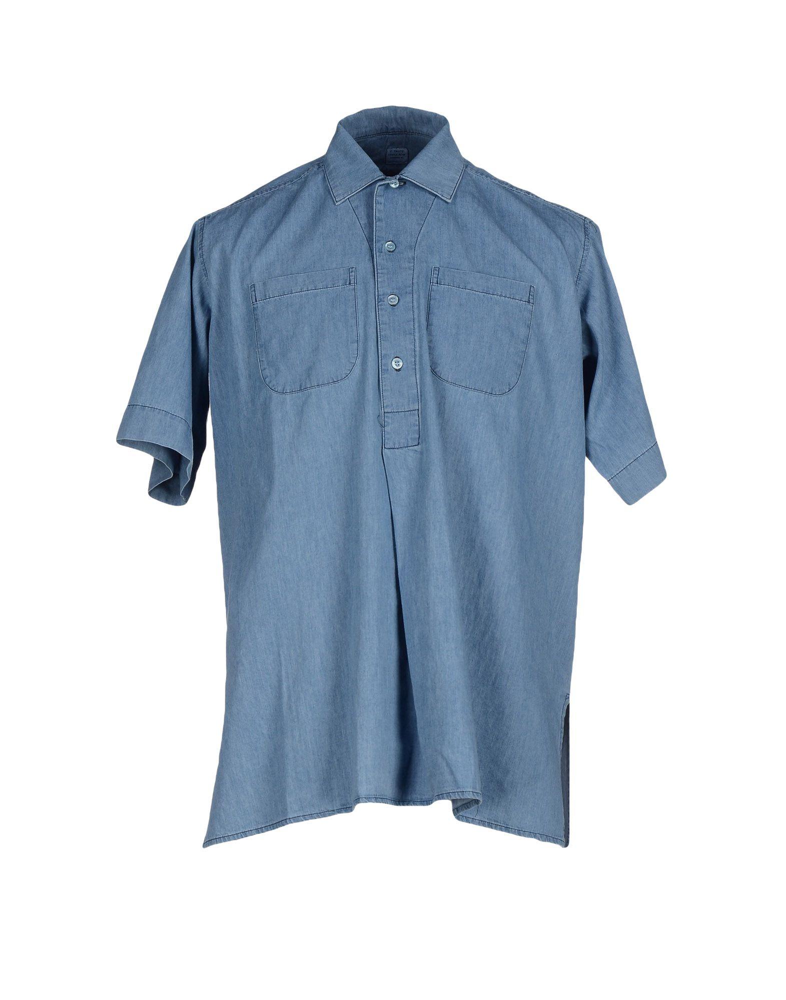 E. TAUTZ Джинсовая рубашка e tautz платье до колена