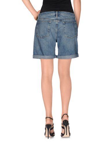 Фото 2 - Джинсовые шорты от FRAME синего цвета