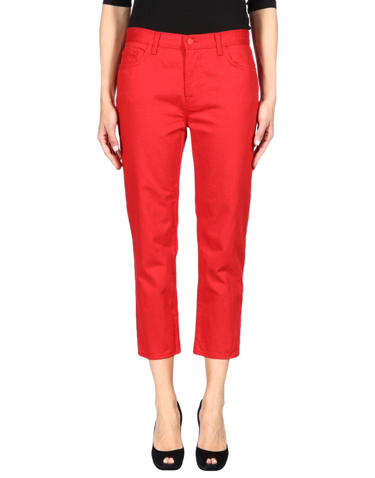 SIMONE ROCHA X J BRAND Denim Pants in Red
