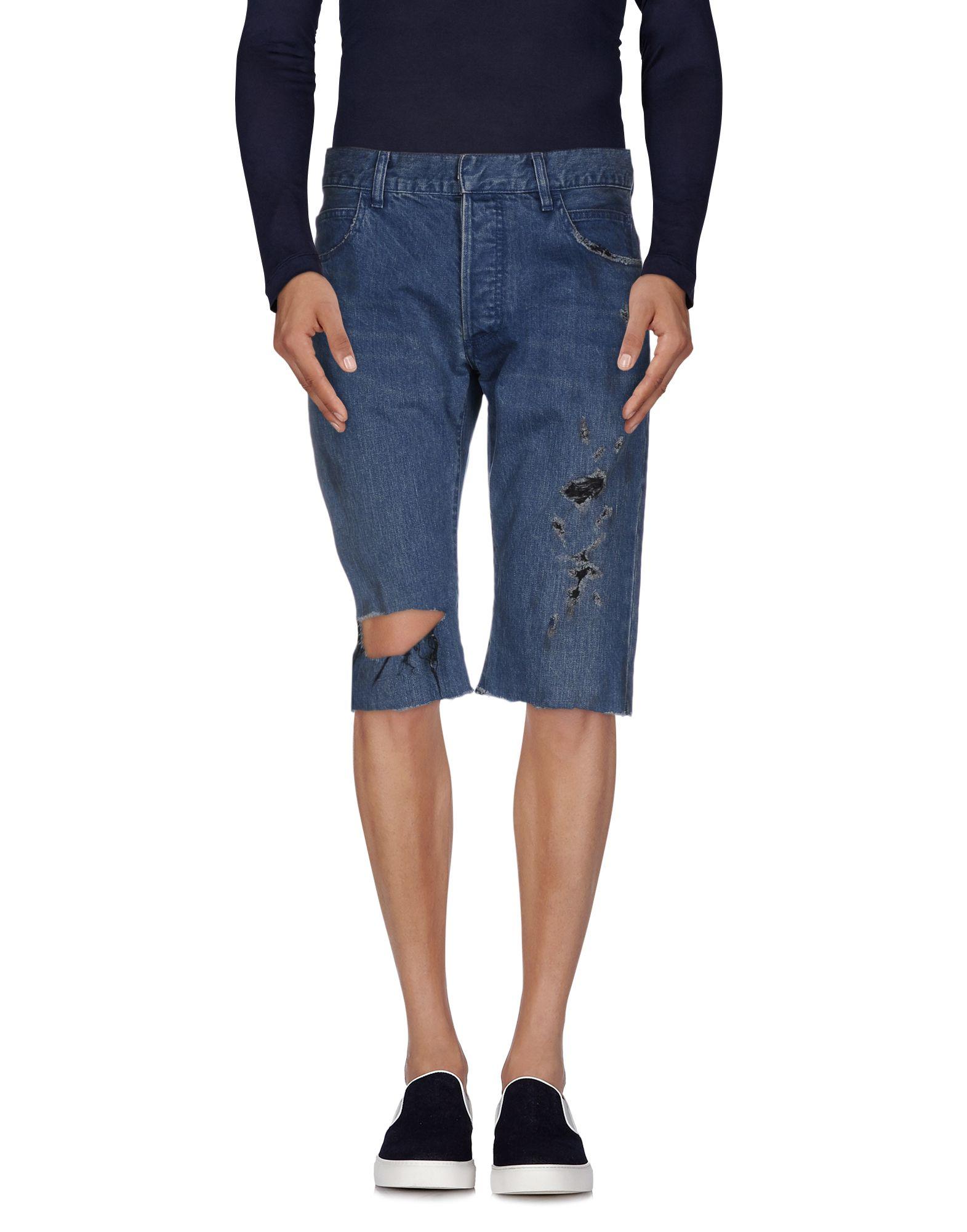 《セール開催中》BALMAIN メンズ デニムバミューダパンツ ブルー 36 コットン 100%