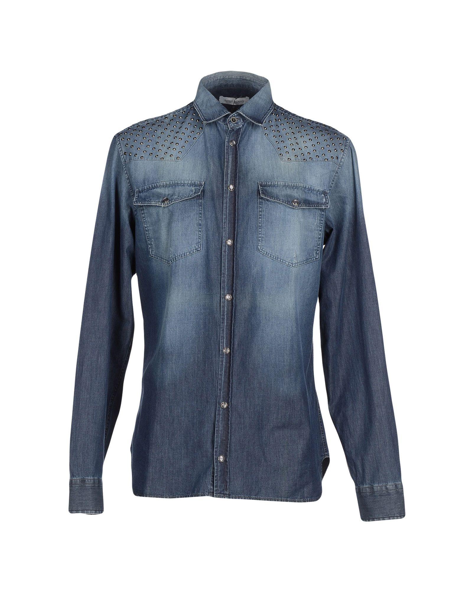 PIERRE BALMAIN Джинсовая рубашка рубашка pierre balmain рубашки и сорочки длинные