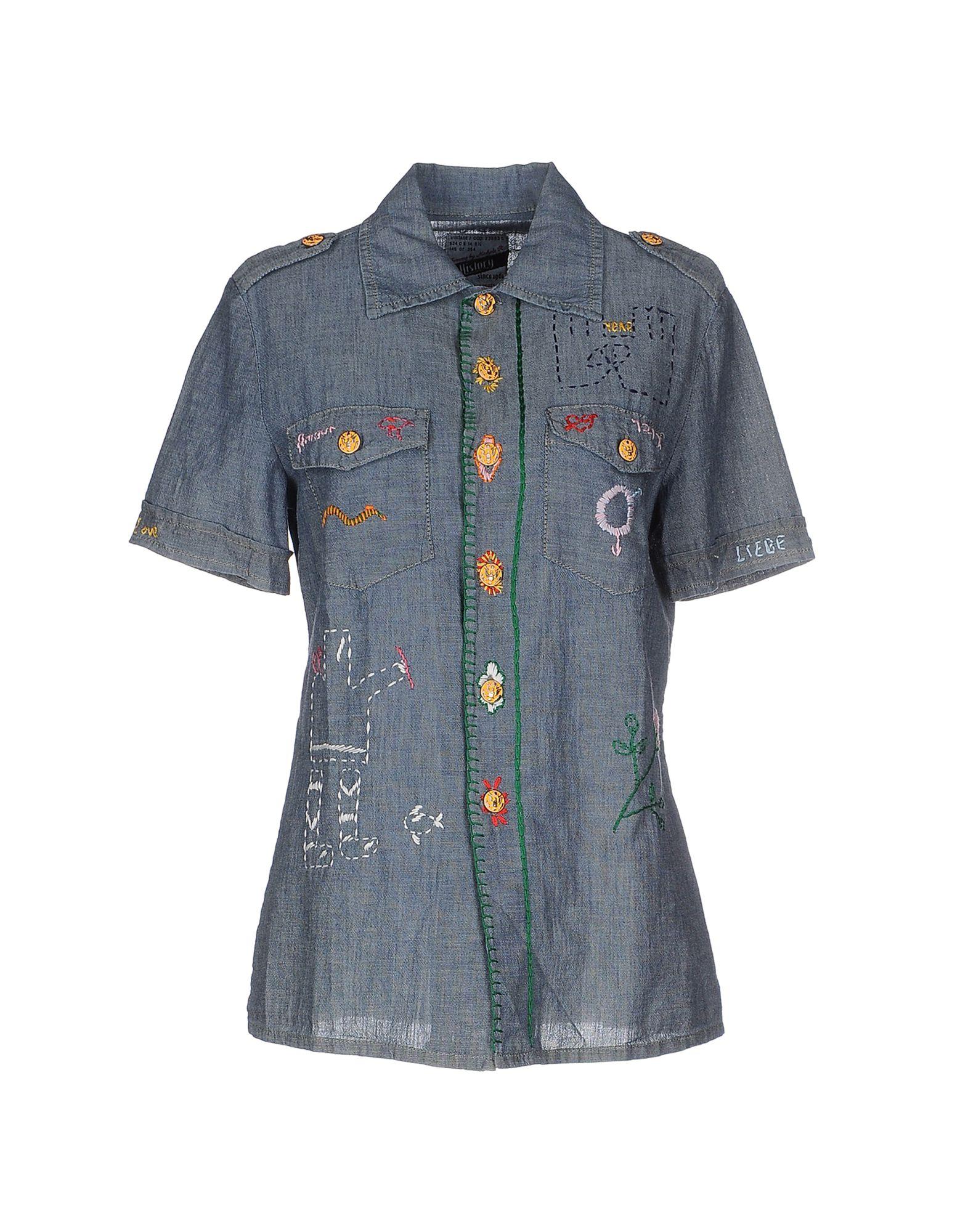 HISTORY REPEATS Джинсовая рубашка рубашка джинсовая с рисунком сердце 3 12 лет