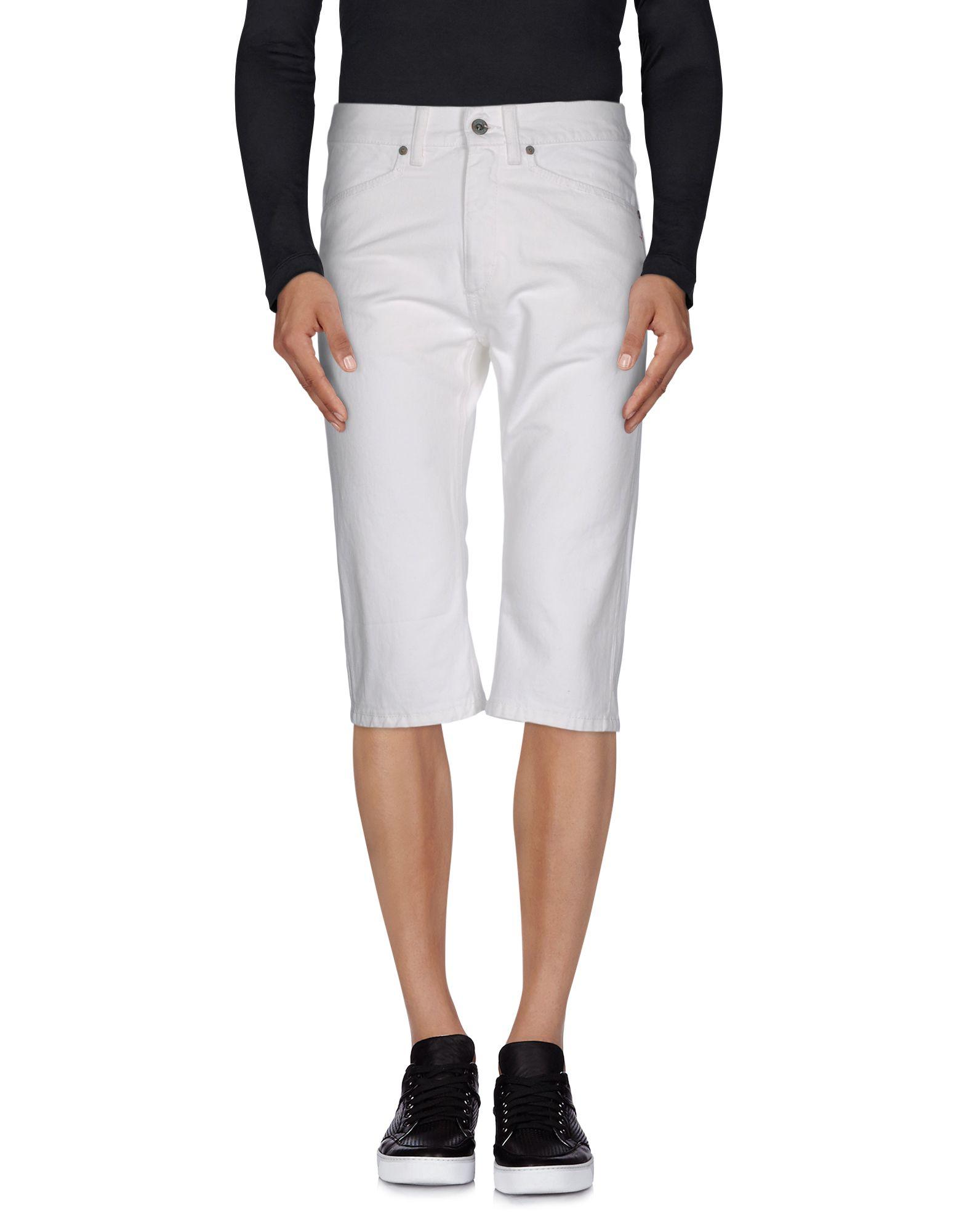 цена DONDUP STANDART Джинсовые брюки-капри онлайн в 2017 году