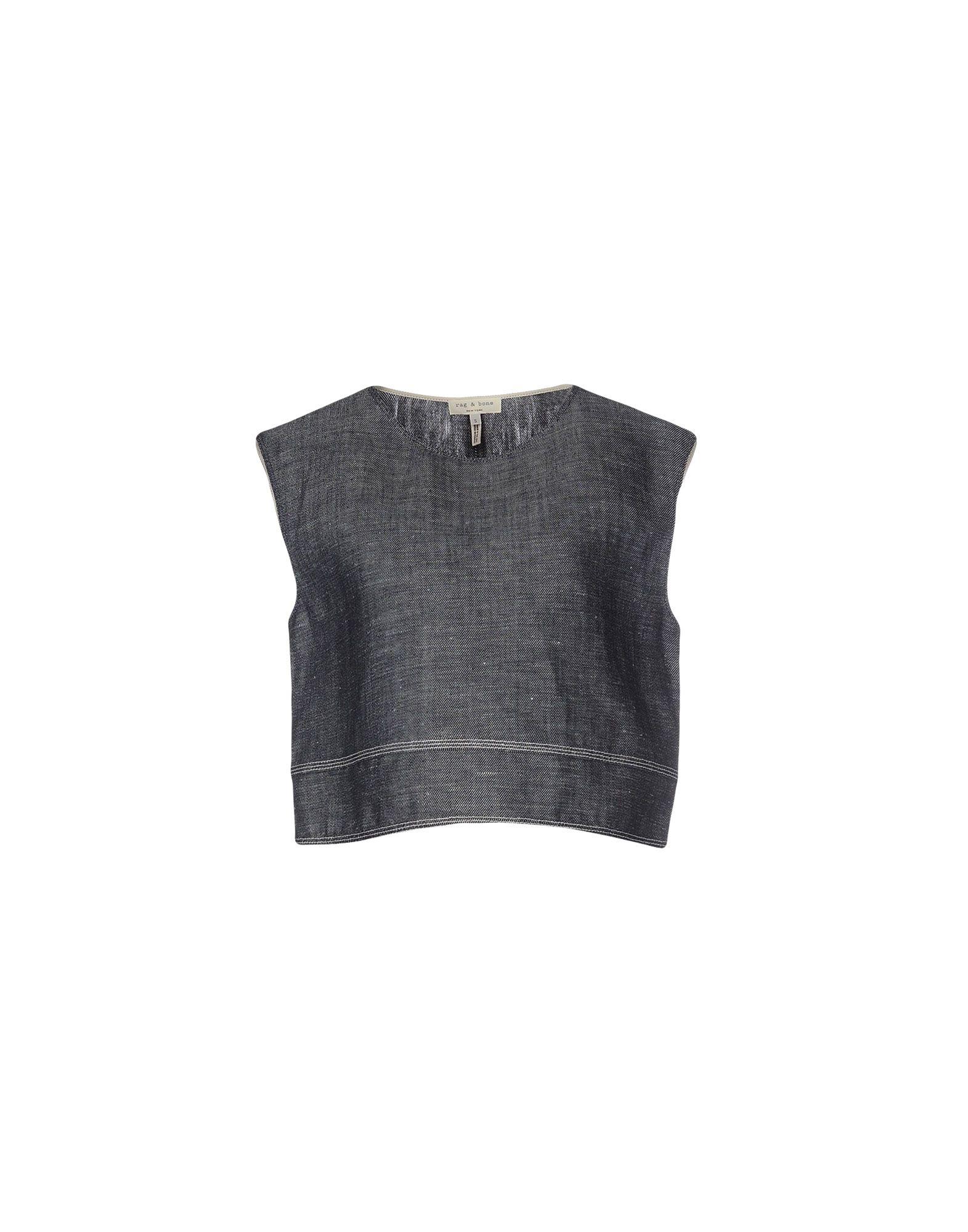 RAG & BONE Джинсовая рубашка джинсовая блузка без рукавов