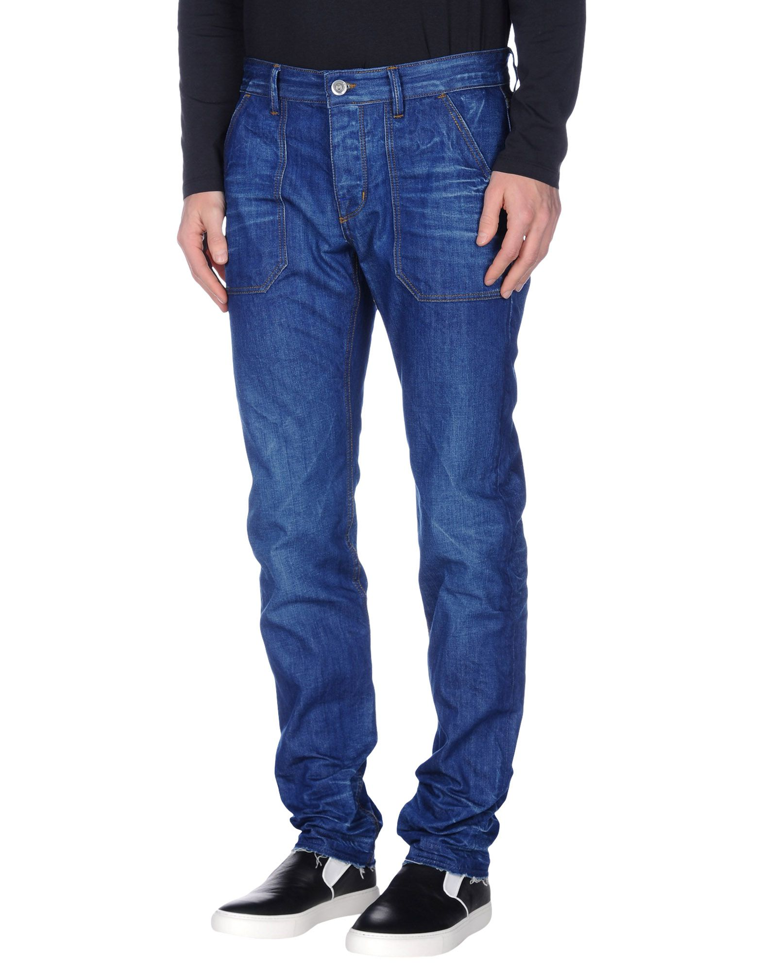 《送料無料》HAIKURE メンズ ジーンズ ブルー 30W-32L オーガニックコットン 100%