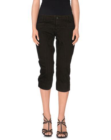 Фото - Джинсовые брюки-капри цвета хаки