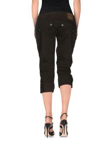 Фото 2 - Джинсовые брюки-капри цвета хаки