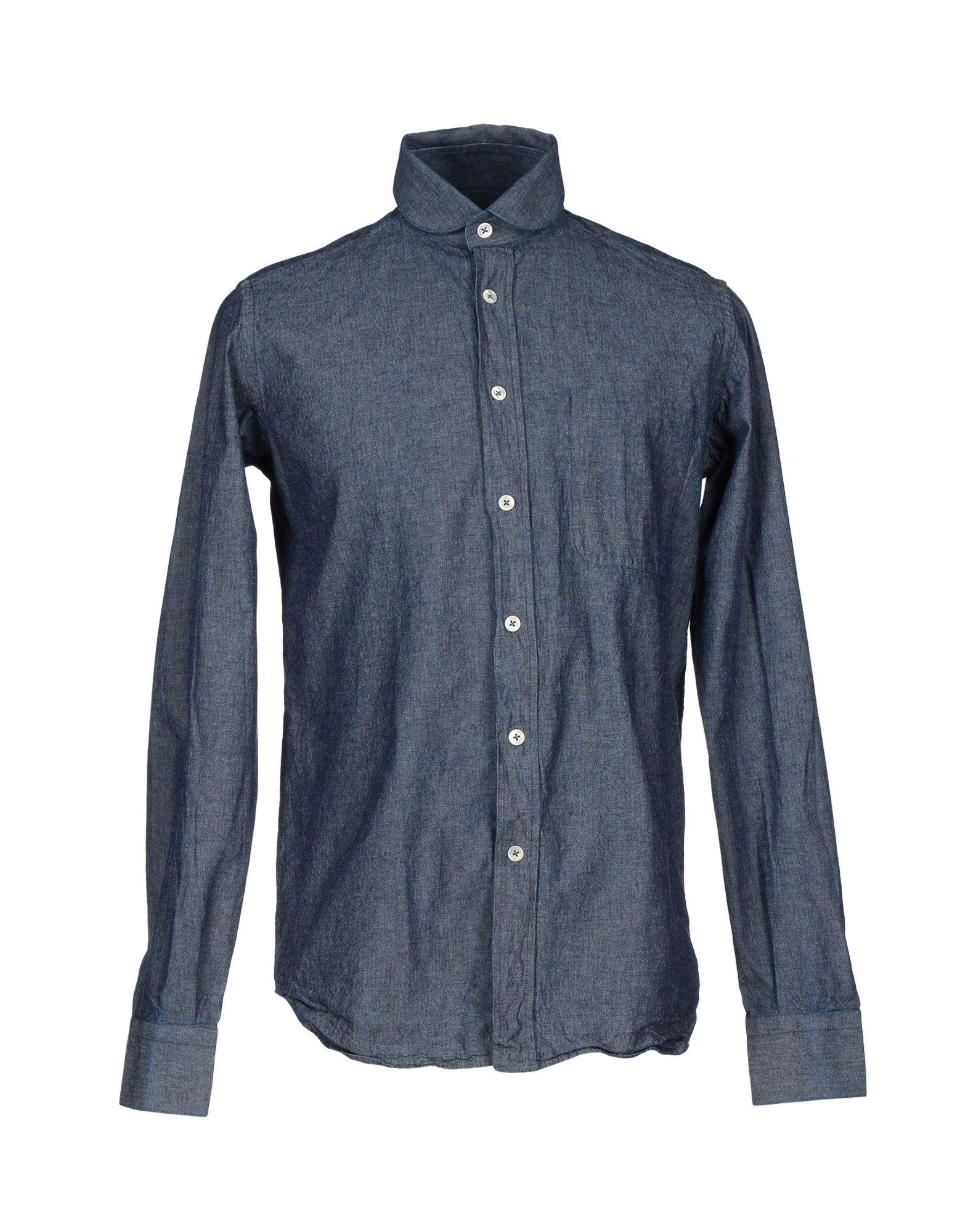 FABIO QUARANTA Джинсовая рубашка рюкзак fabio bruno fabio bruno fa044bwampt0