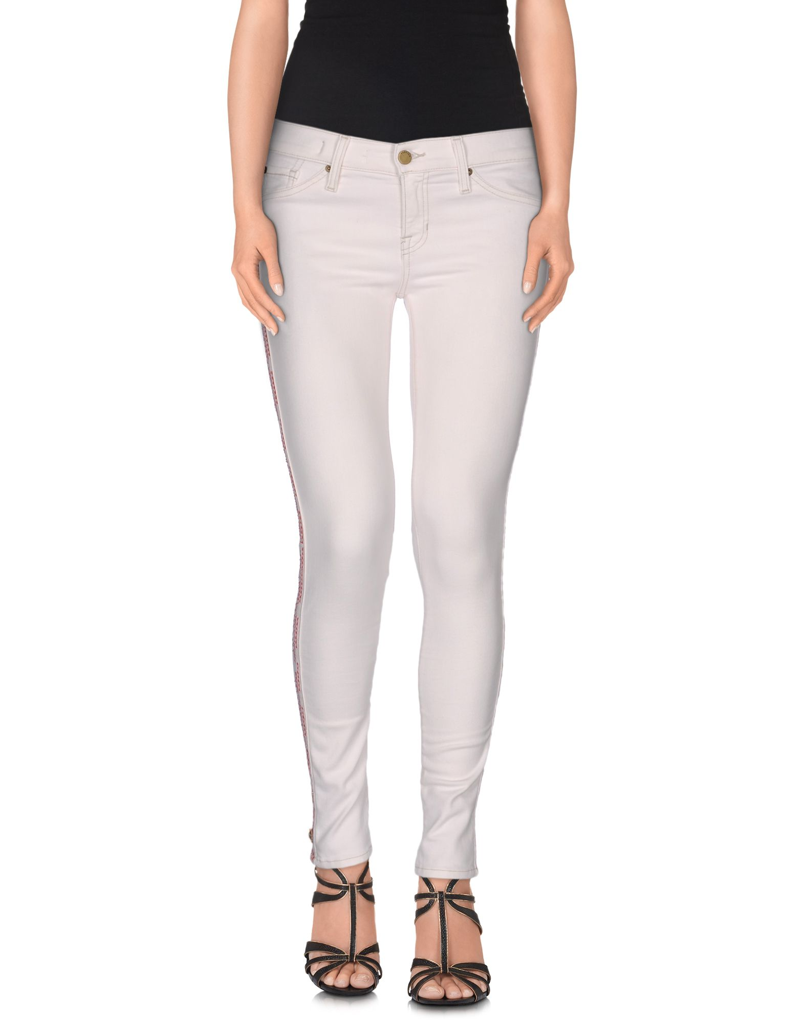 TEXTILE ELIZABETH AND JAMES Denim Pants in White