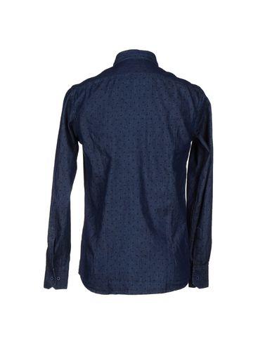 Фото 2 - Джинсовая рубашка от DE LAMP синего цвета