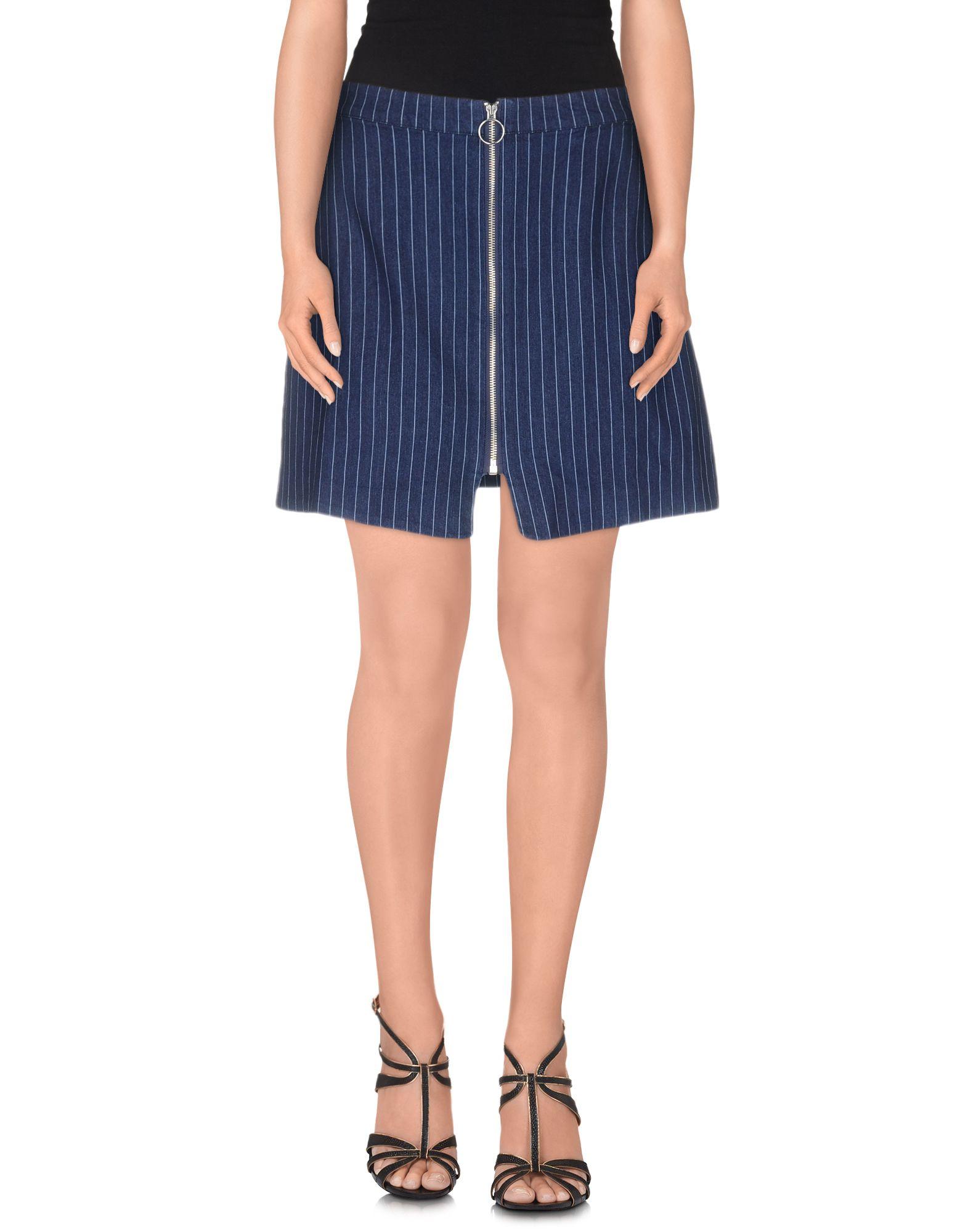 цена WEILI ZHENG Джинсовая юбка онлайн в 2017 году