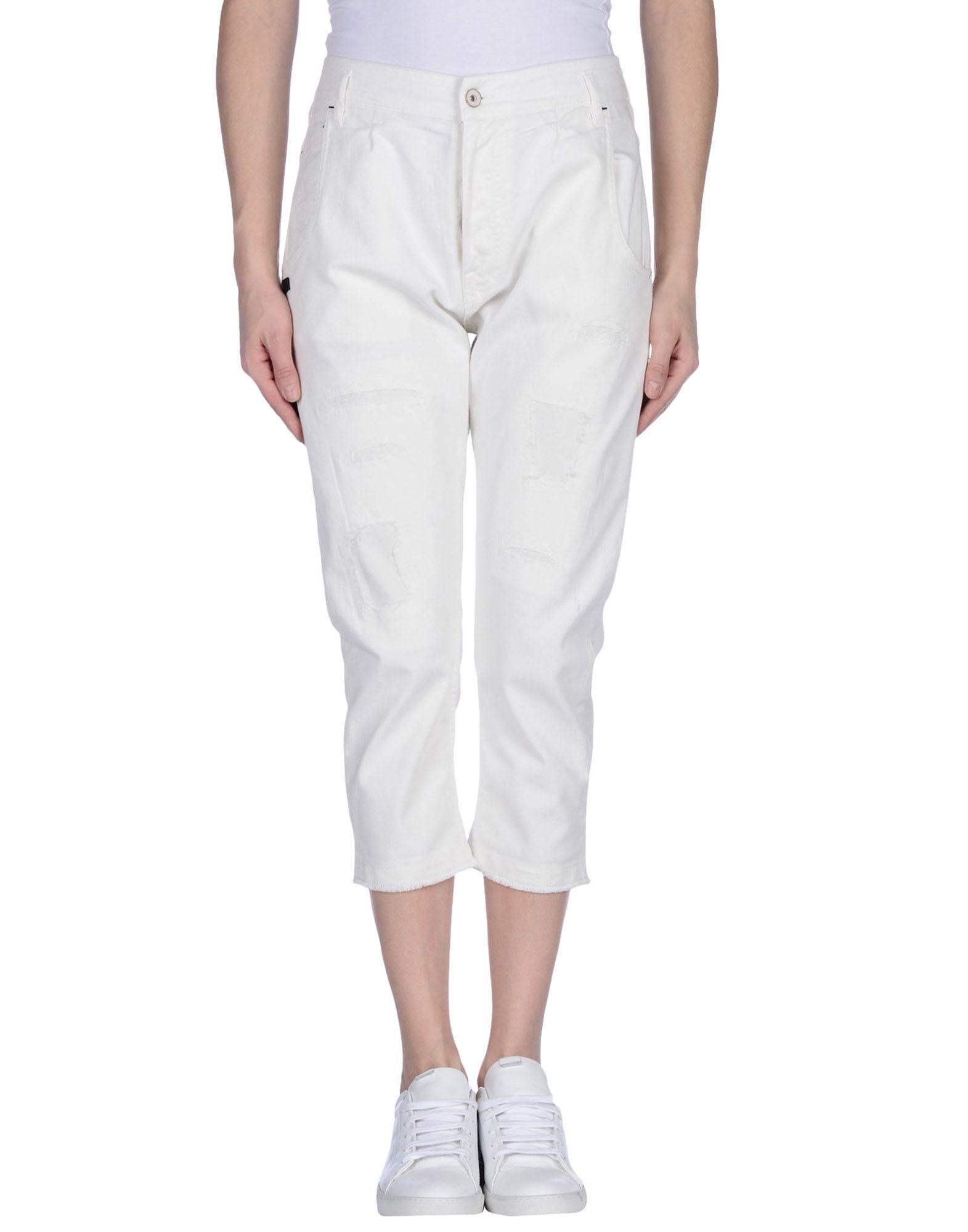 DANIELE ALESSANDRINI Джинсовые брюки-капри цена 2017
