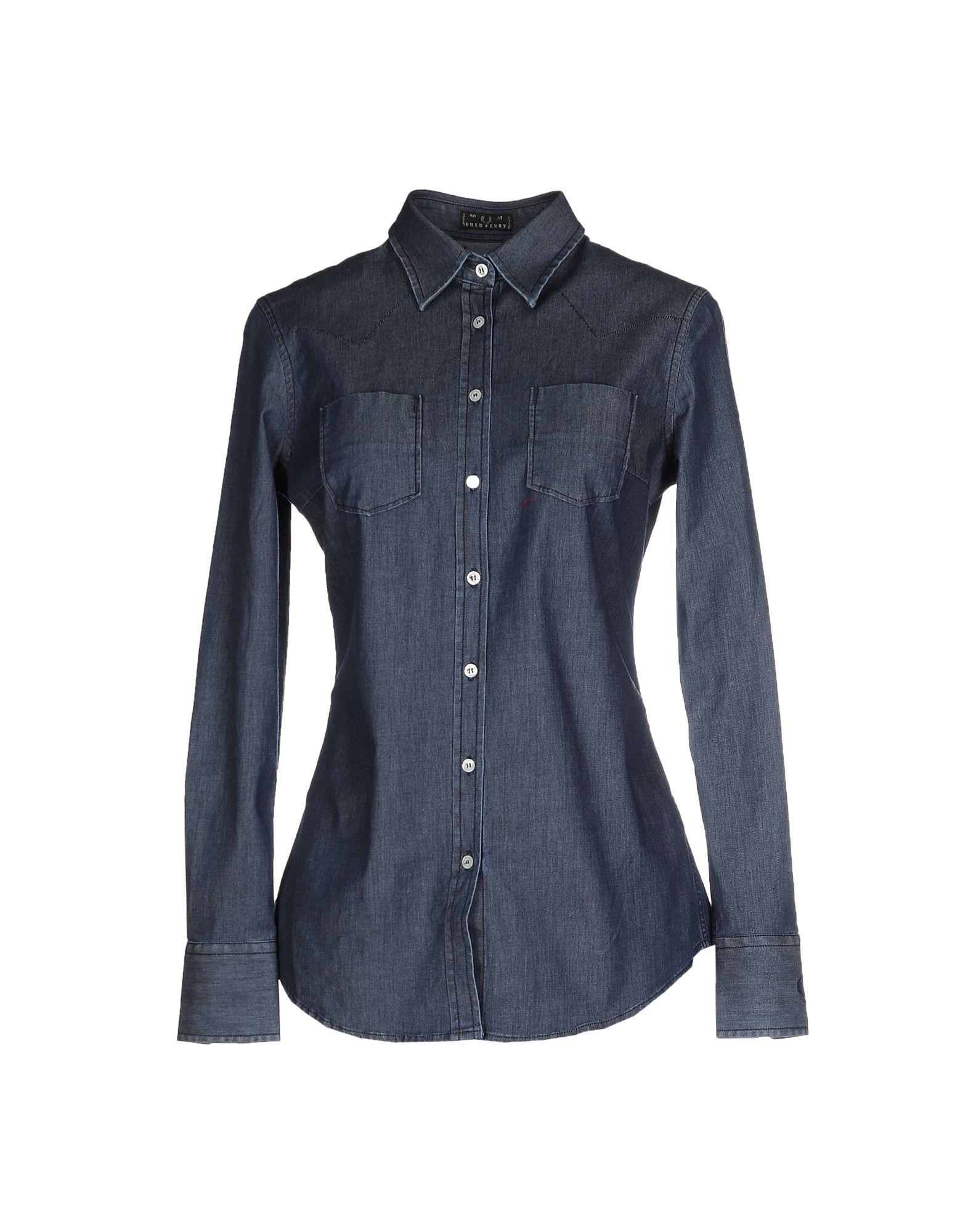 FRED PERRY Джинсовая рубашка рубашка fred perry fred perry fr006emuia54