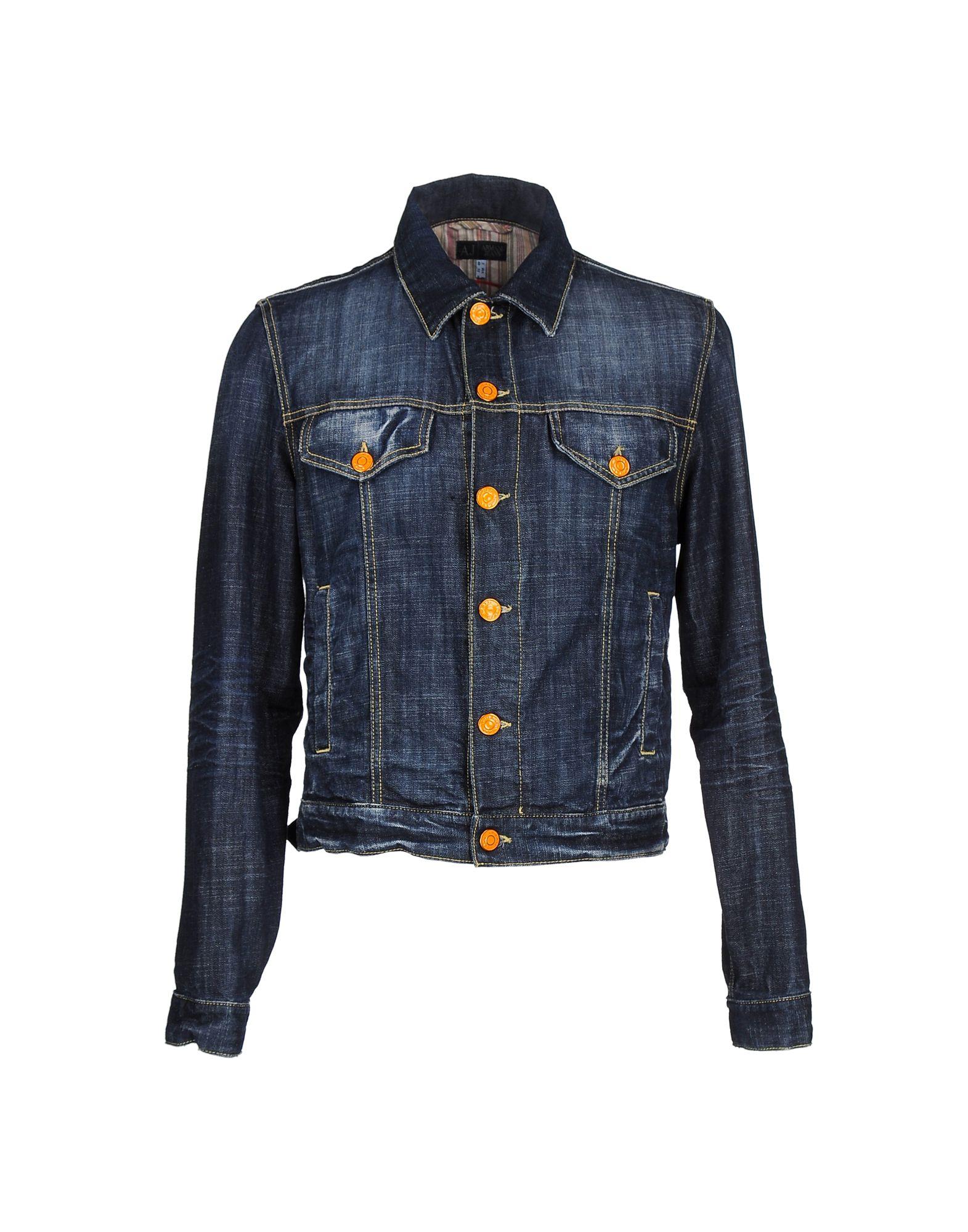 Фото - ARMANI JEANS Джинсовая верхняя одежда armani jeans верхняя одежда из кожи