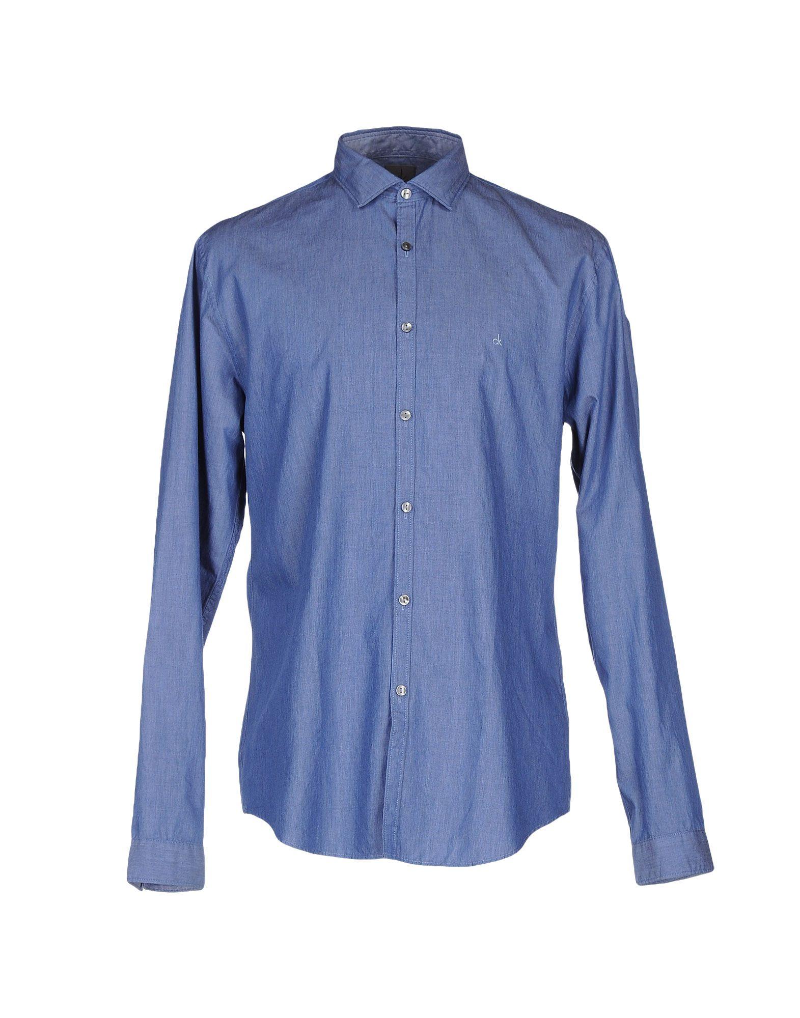 CK CALVIN KLEIN Джинсовая рубашка рубашка мужская calvin klein ck fit tee