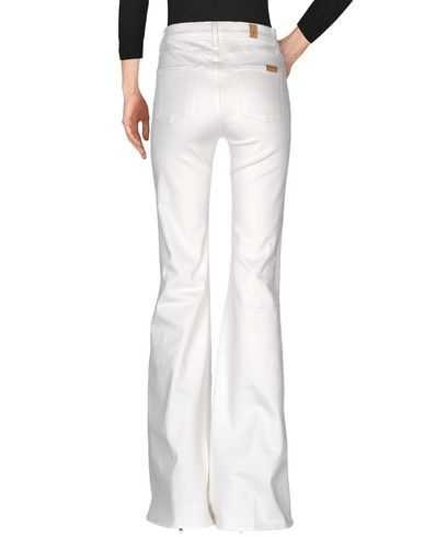 Фото 2 - Джинсовые брюки цвет слоновая кость
