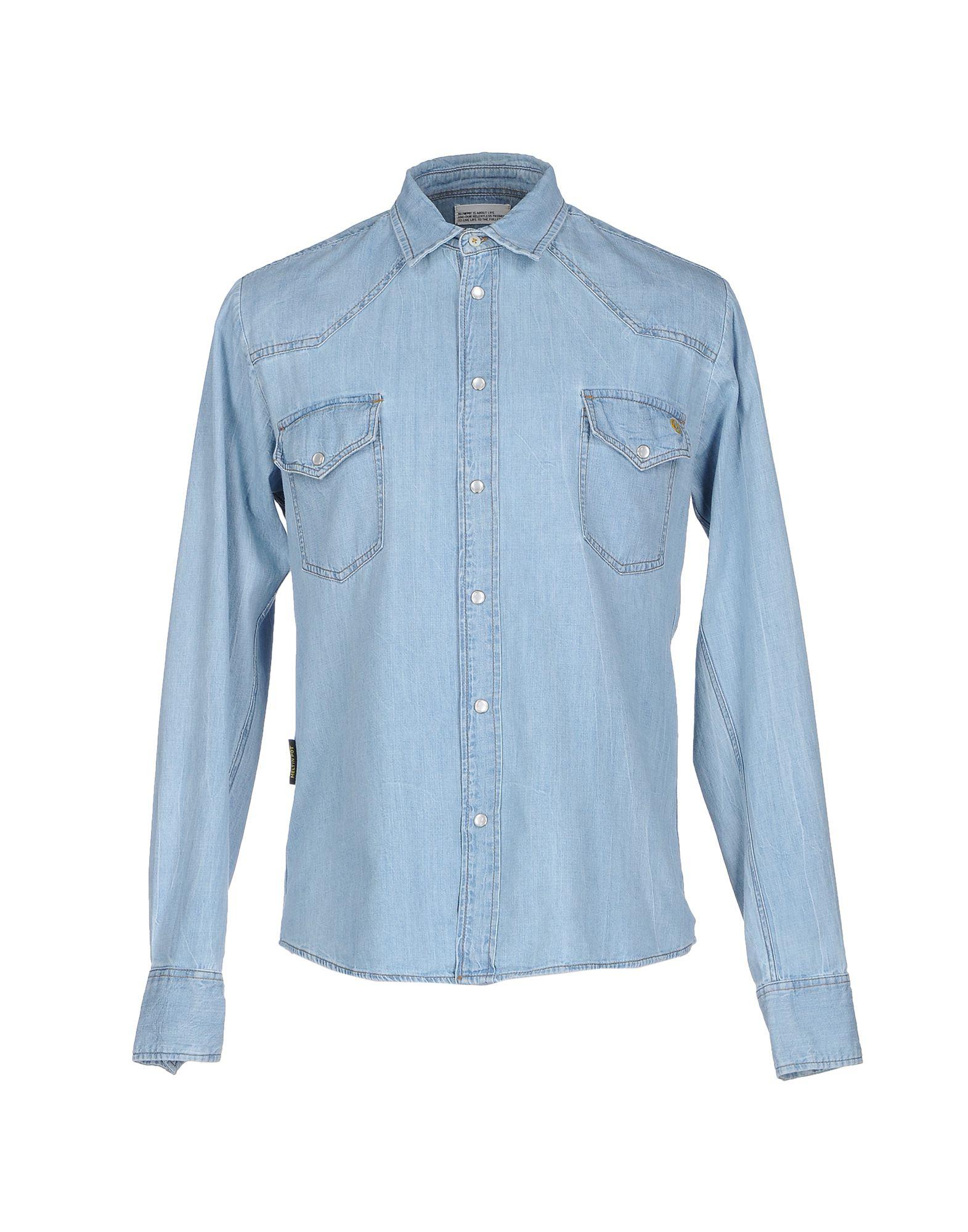 MELTIN POT Джинсовая рубашка джинсовая рубашка quelle arizona 610860