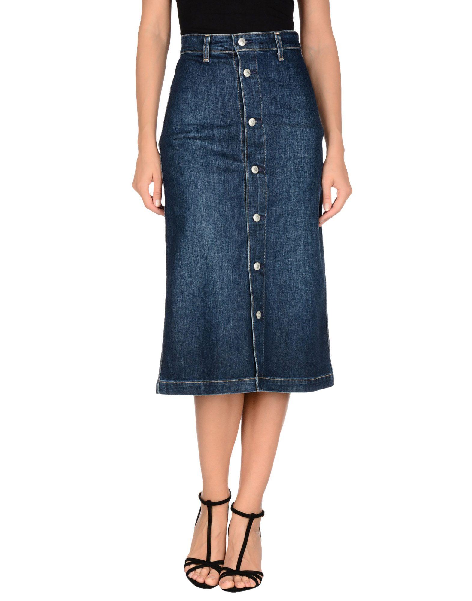 ALEXACHUNG for AG Jeans Джинсовая юбка цена 2017