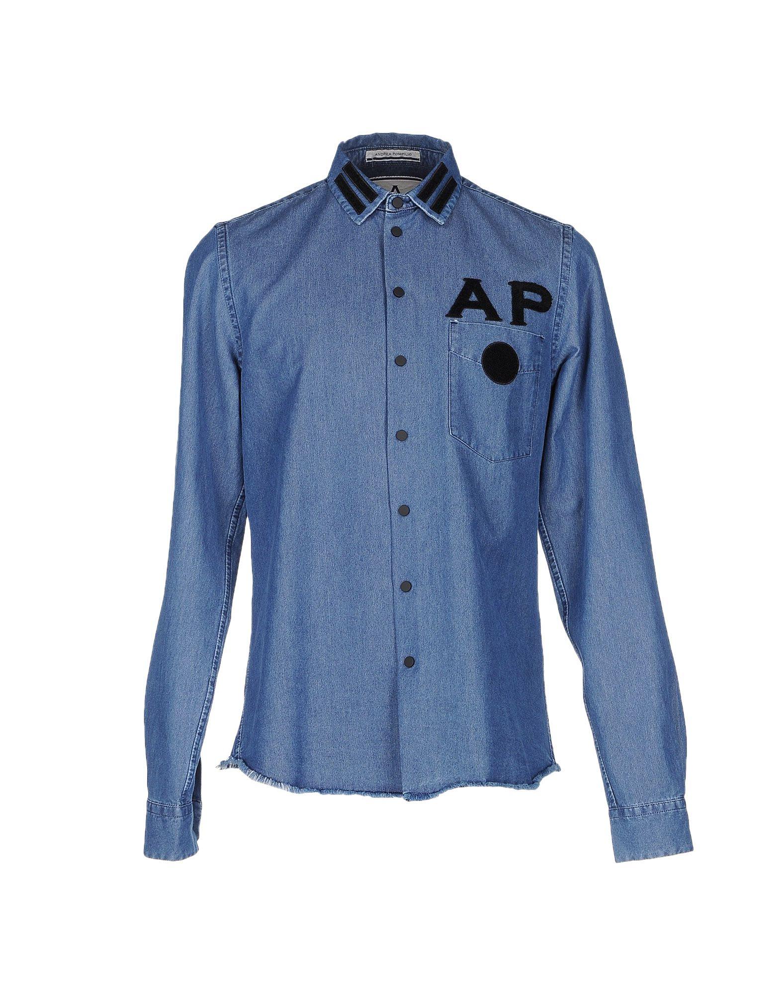 ANDREA POMPILIO Джинсовая рубашка andrea pompilio джинсовая рубашка