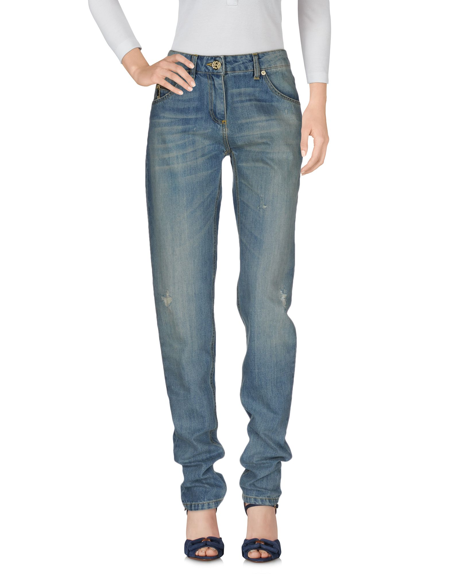 цена ELISABETTA FRANCHI JEANS for CELYN B. Джинсовые брюки онлайн в 2017 году