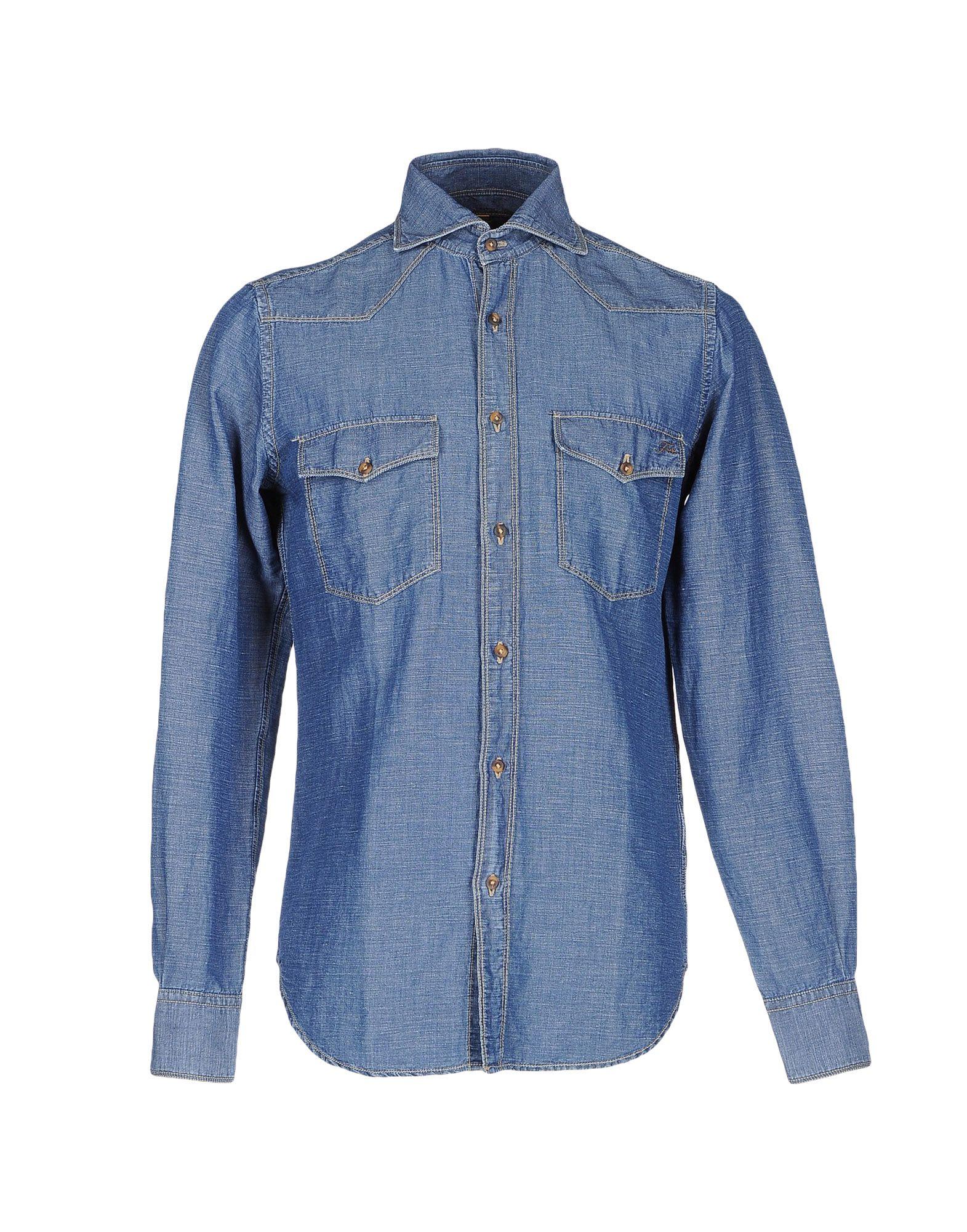 цены на F** by FAY Джинсовая рубашка в интернет-магазинах