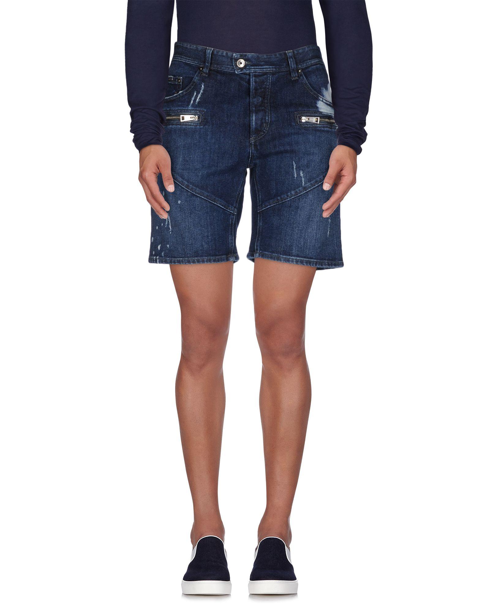 《期間限定セール中》JUST CAVALLI メンズ デニムバミューダパンツ ブルー 52 コットン 98% / ポリウレタン 2%