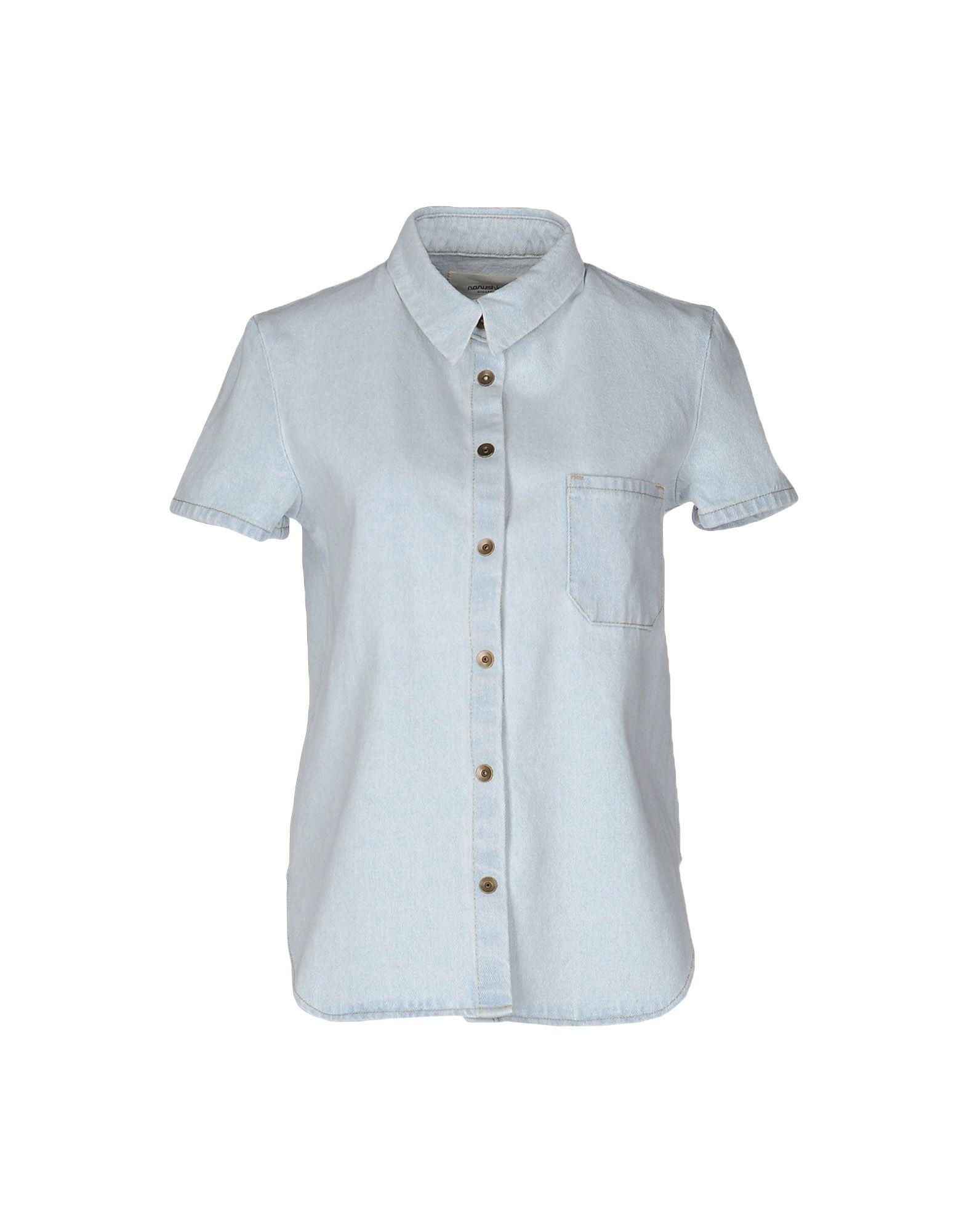 цена  NANUSHKA Джинсовая рубашка  онлайн в 2017 году