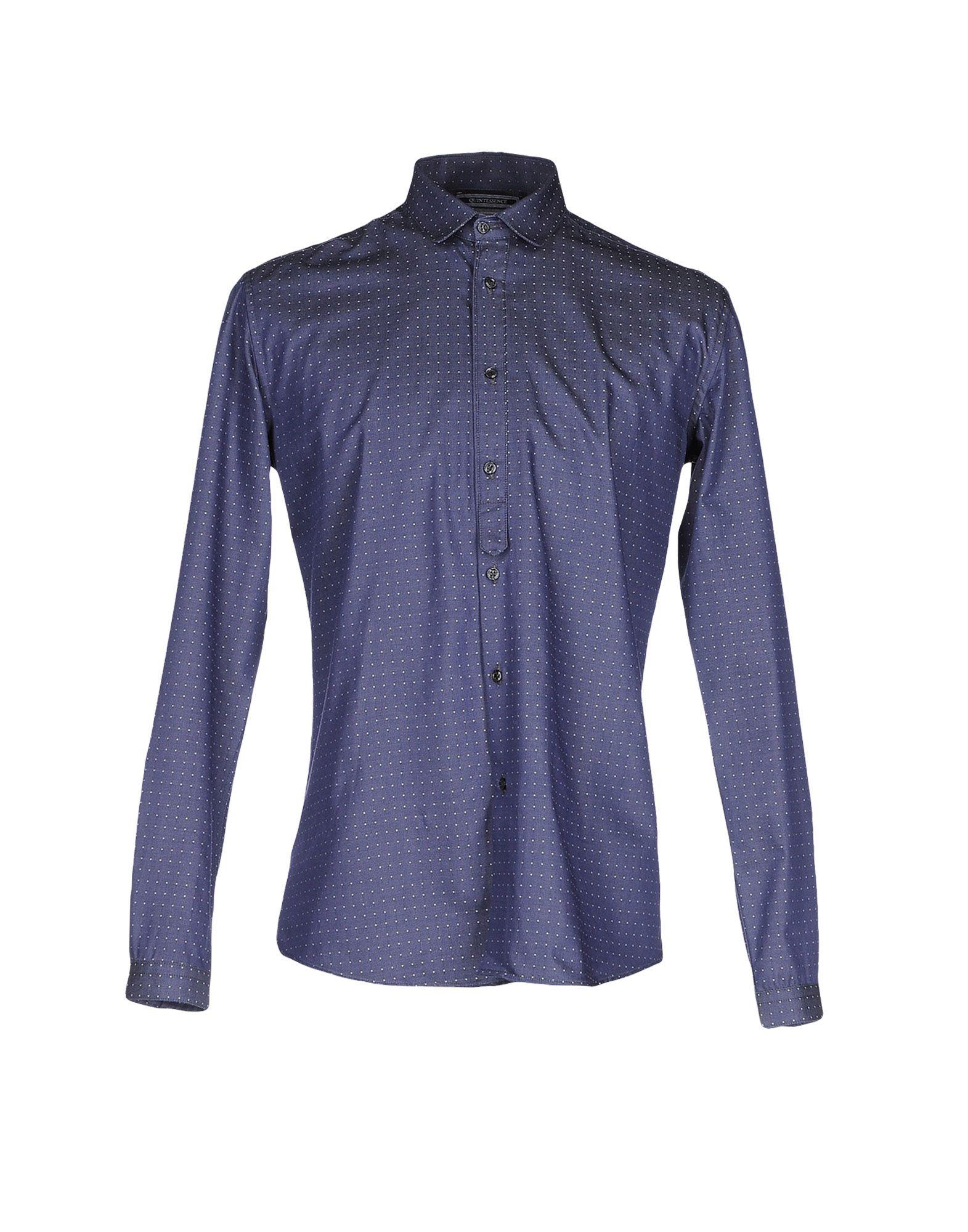 《送料無料》QUINTESSENCE メンズ デニムシャツ ブルー M コットン 100%